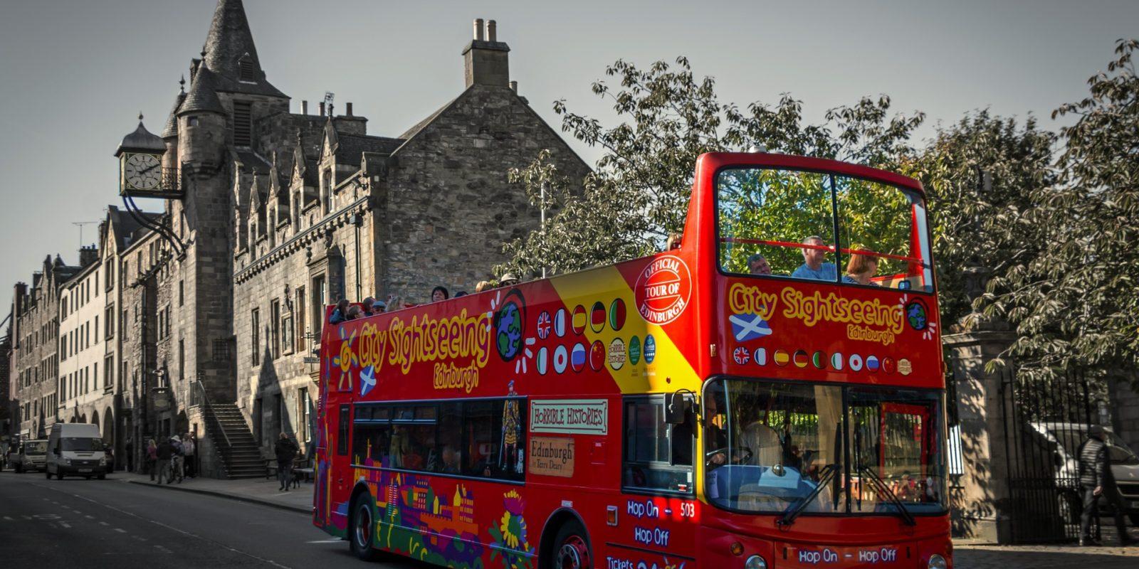 City Tour Bus_Edinburgh, Scotland.