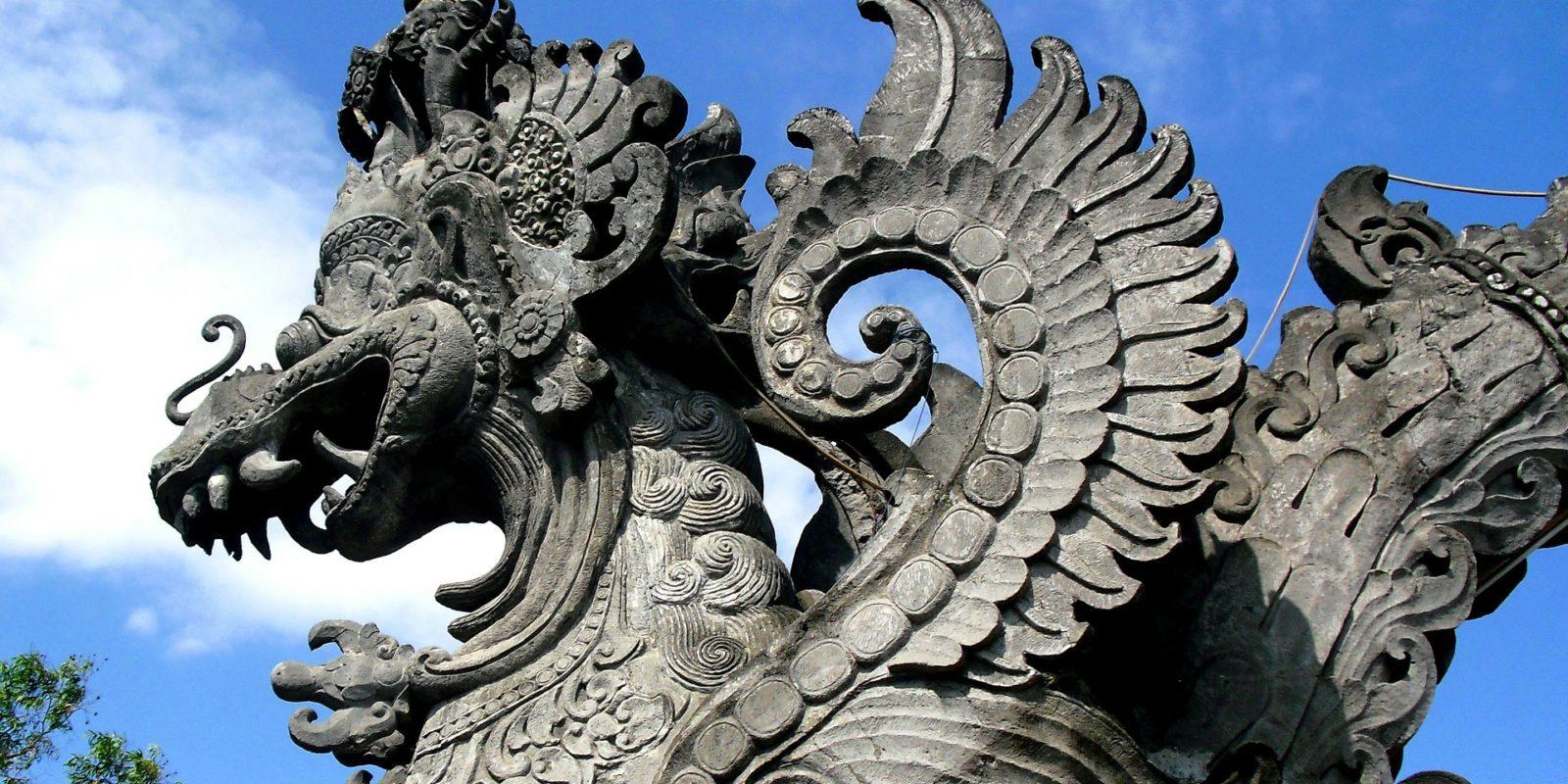 Garuda, stone sculpture, Bali, Indonesia.