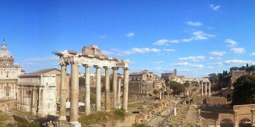 Historical ruins-Colosseum-Rome
