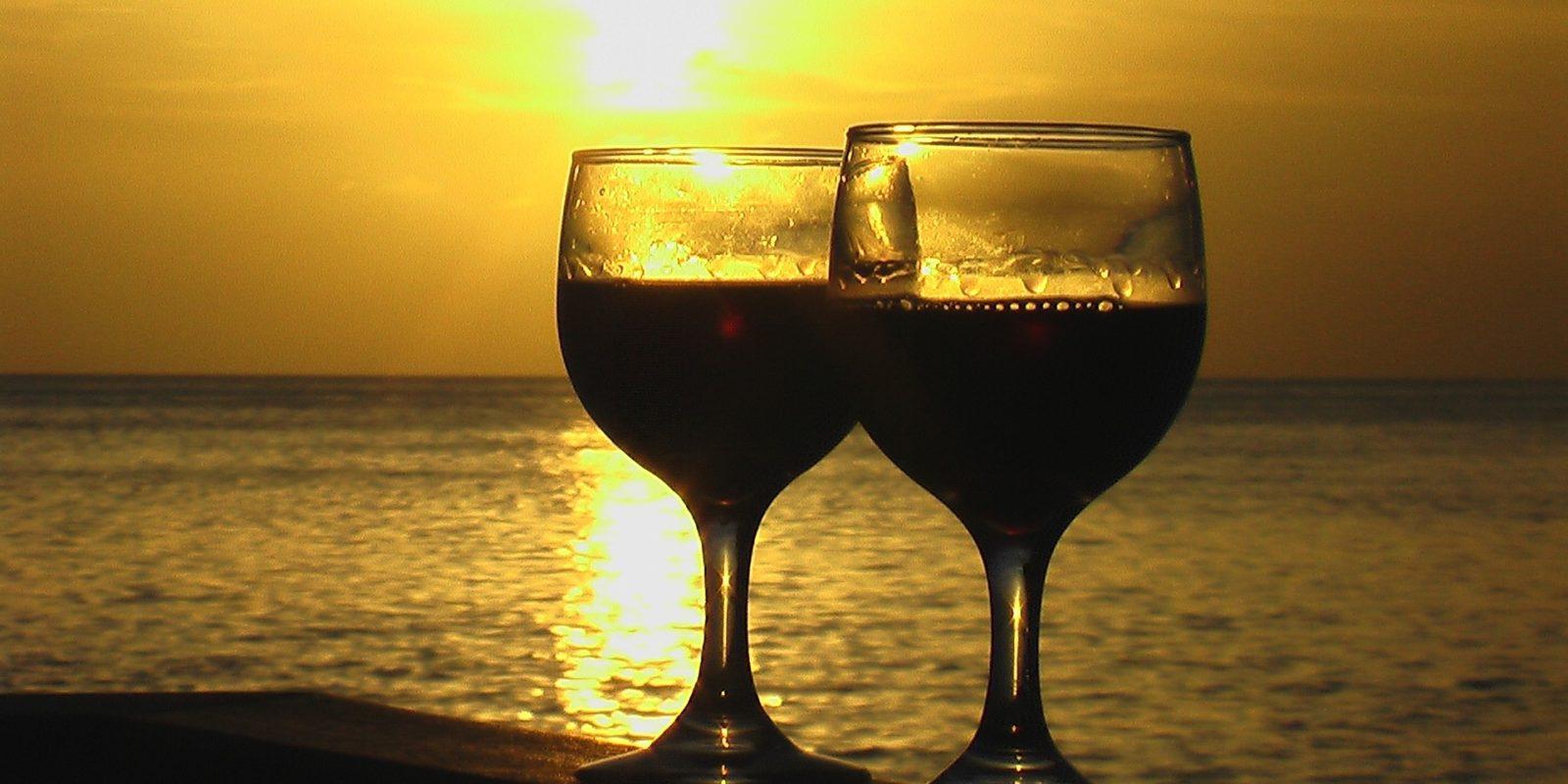 Love-ly wine honeymoon, Maldives.