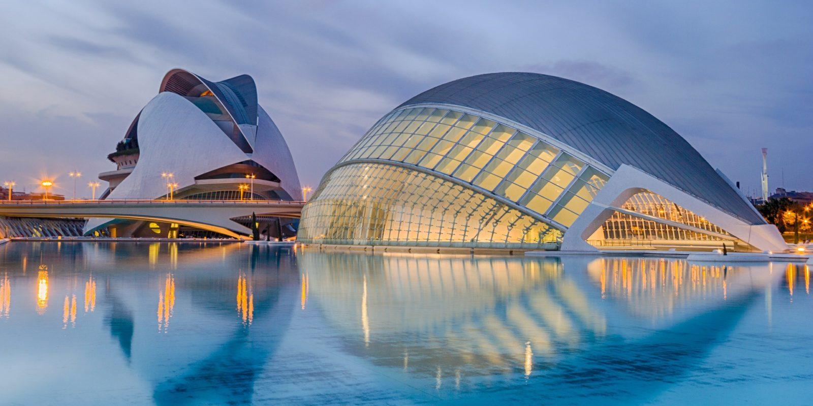 Santiago Calatrava Structures Hemisfèric Movie Theatre, Valencia, SPAIN