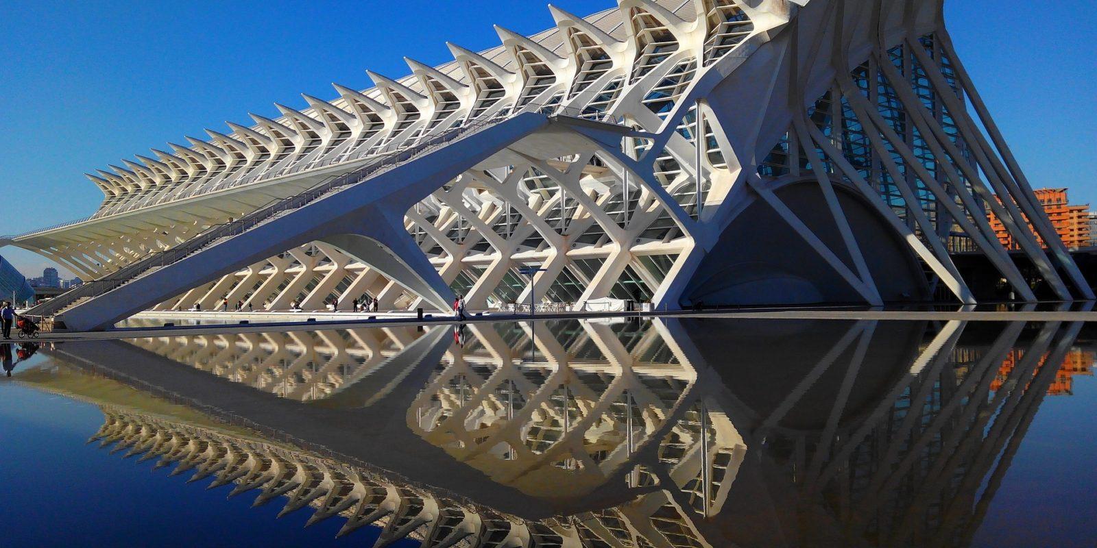 Santiago Calatrava Structures L'Umbracle, Valencia.
