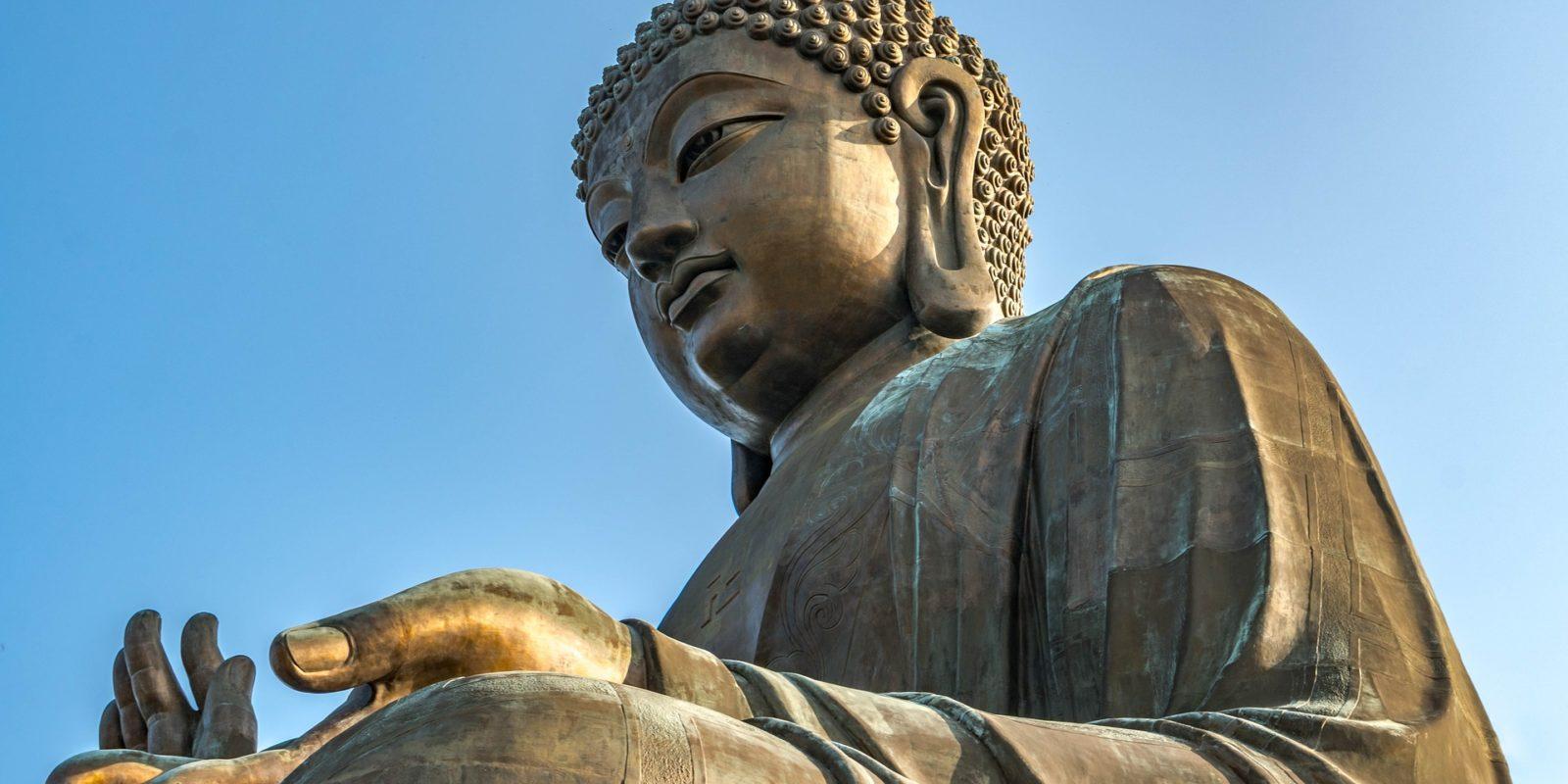 Extraordinary Tian Tan Buddha statue at the Po Lin Monastery, Hong Kong