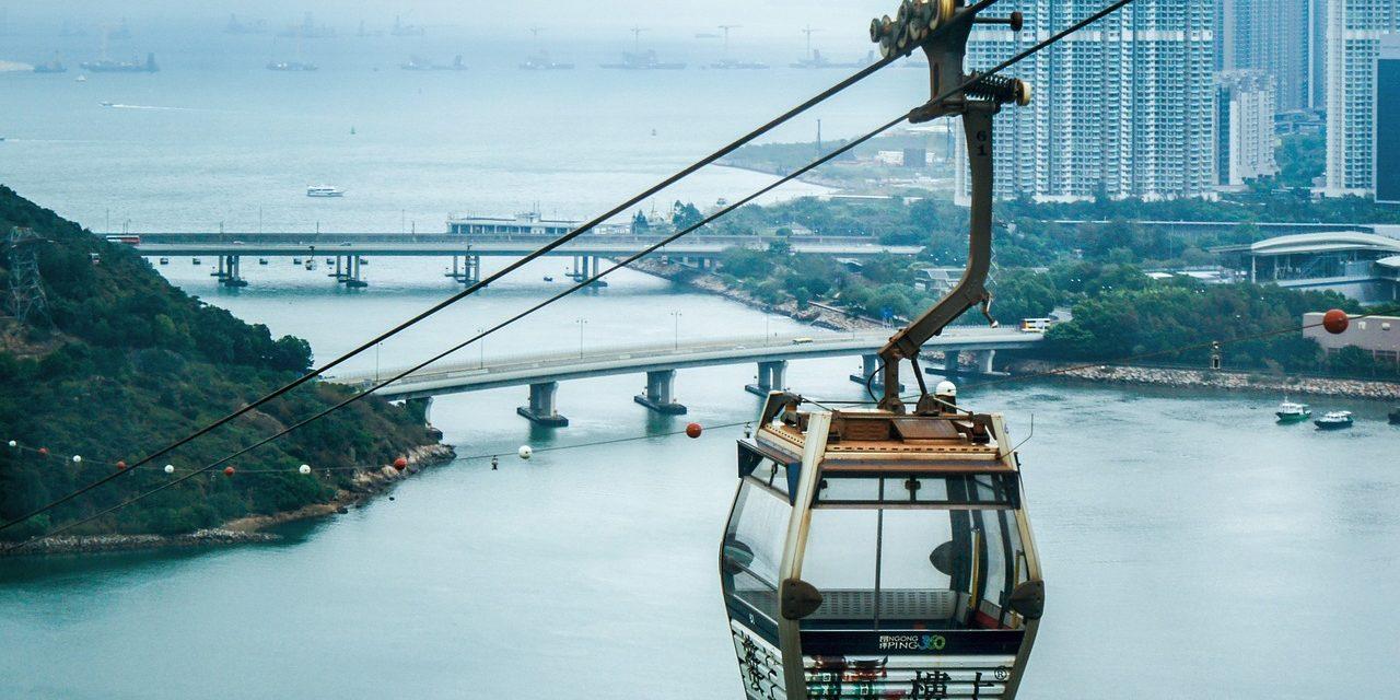 Cablecar on Lantau Island, Hong Kong