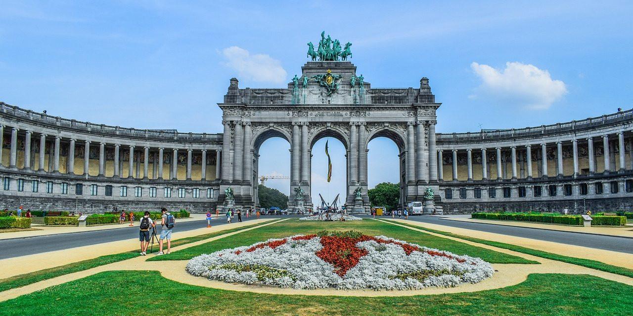 Cinquantenaire Park Triumphal Arch_Brussels, Belgium.