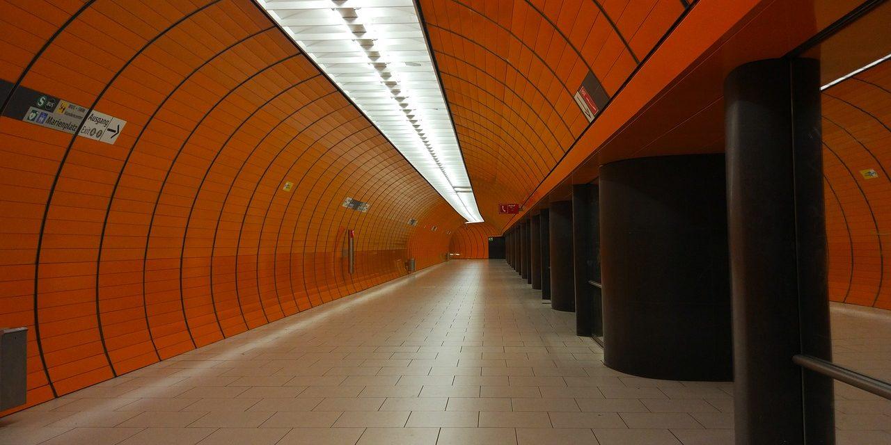 Metro Station Orange Corridor, Munich , Germany.
