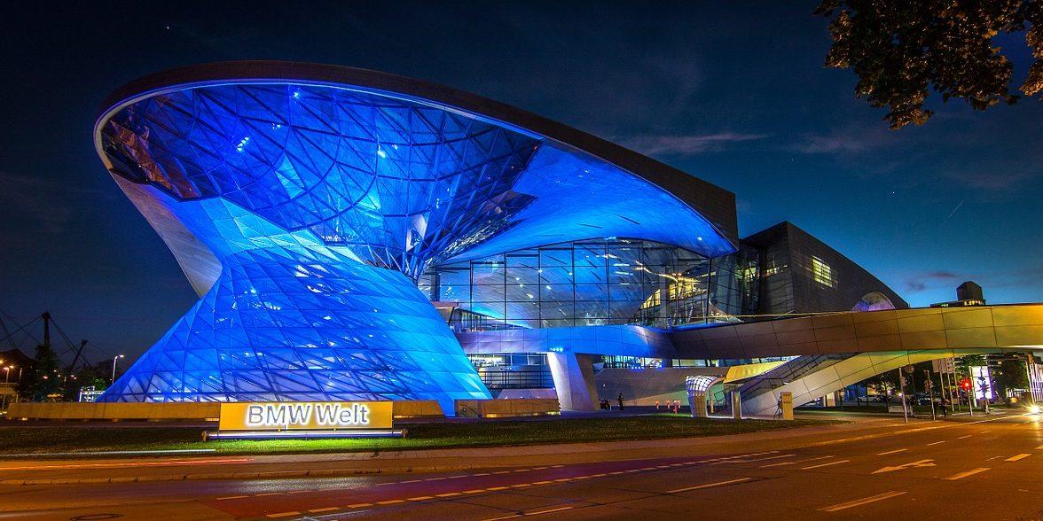 BMW Welt Architecture, Munich, Germany.