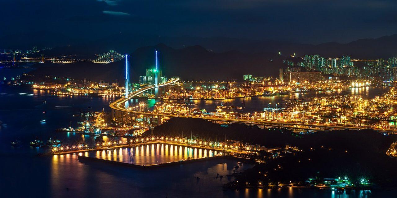 Night skyline of Harbour, Hong Kong