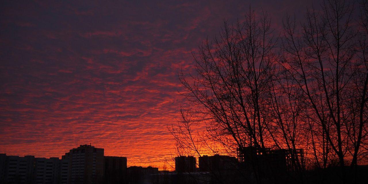 Sunset at Kazan, Russia