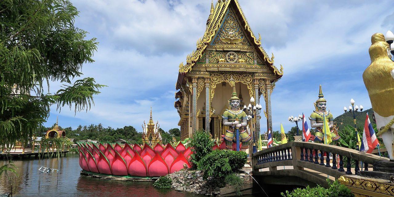 Buddhist Temple, Ko Samui, Thailand.