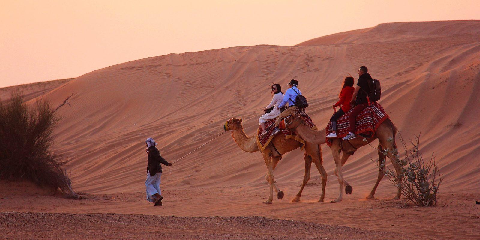 Camel-safari, Dubai