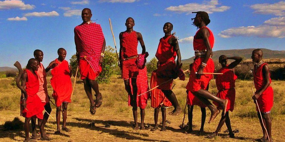 Jumping Masai Tribal men